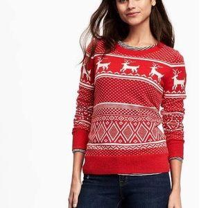 Women's Fair Isle reindeer Christmas sweater
